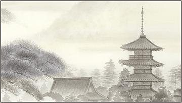 歴史を感じる日本画
