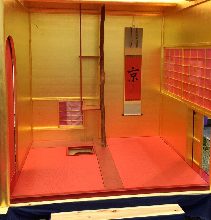 京都表具組合が製作した黄金の茶室